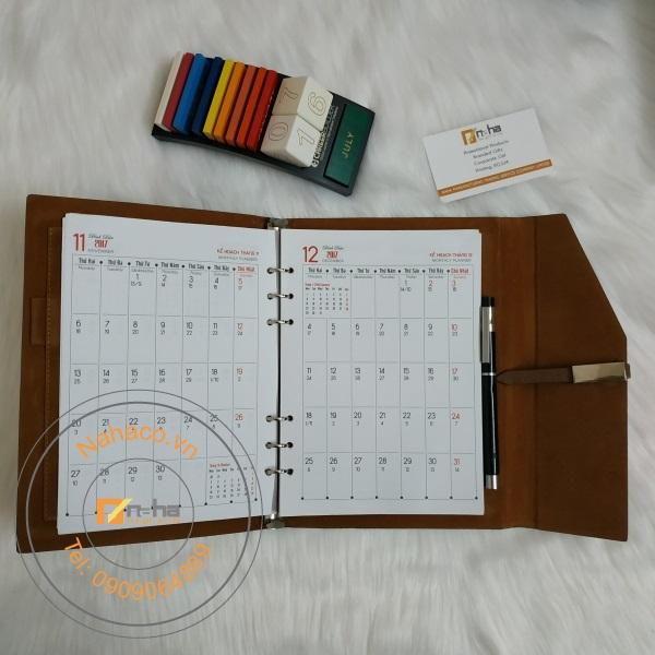 tờ lịch của mẫu sổ tay 10